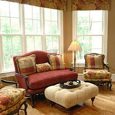 furniture brown leather french country sofa with area rug and