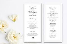 Template For Wedding Programs Wedding Program Template Stationery Templates Creative Market