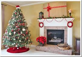 decorating a christmas mantel around your tv sand and sisal