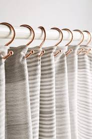curtain rings gold images Copper shower curtain hooks set urban outfitters