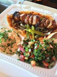 arabic wrap chicken wrap with fresh hummus and tabouli picture of