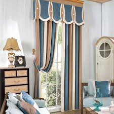 Striped Living Room Curtains by Aliexpress Com Buy North Europe Style Elegant Grey Beige Cyan