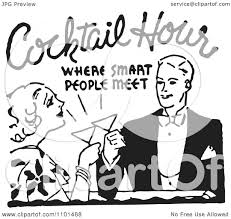 retro martini drawing clipart retro black and white couple toasting at cocktail hour