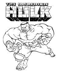 hulk cartoon image coloring