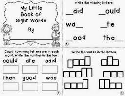 sight word practice miss kindergarten