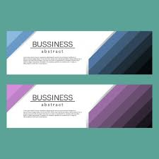 business banners template vector free download