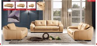 furniture half round red leather sofa set with round ottoman