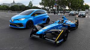 koenigsegg paris video renault zoe e sport and formula e car have a date in paris