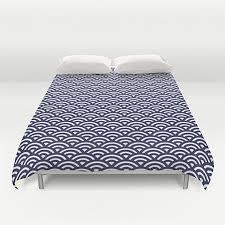 Queen Duvet Cover Pattern Japanese Duvet Cover Modern Duvet Cover Blue Pattern