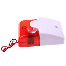 12v wired sound alarm strobe light siren home security