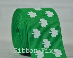shamrock ribbon shamrock ribbon etsy