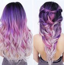 Brighter Pink Purple Ombre Hair Beauty Fantasy Unicorn Purple Violet Red Cherry