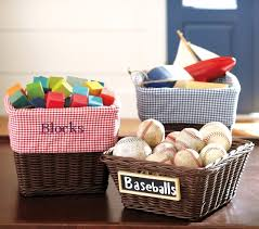 Pottery Barn Baskets With Liners Espresso Sabrina Basket Collection Pottery Barn Kids