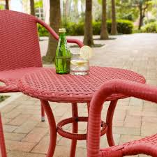 Palm Harbor Patio Furniture Crosley Ko70060re Palm Harbor 3 Piece Outdoor Wicker Cafe Seating