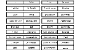 french worksheet with present and imperfect tense on personal