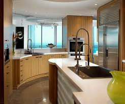 kitchen room half rounded modern wooden kitchen cabinets with