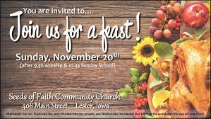 thanksgiving dinner seeds of faith community church