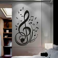 Musical Note Decorations Wall Art Decor Removable Vinyl Decals Stickers Musical Music Notes