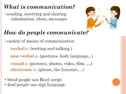 How Do Deaf Blind Communicate Mass Media What Is Communication Sending Receiving And Sharing