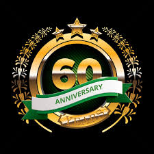 60 years anniversary 60 years anniversary label with ribbon vector image 1399876
