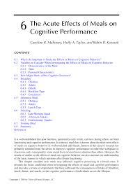 6 the acute effects of meals on cognitive performance pdf