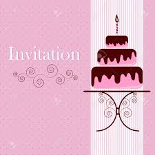 Invitation Card Of Opening Ceremony Invitation Card With Cake Royalty Free Cliparts Vectors And