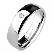 alliance pour homme bague alliance pour homme femme acier effet miroir zircon cz mariage