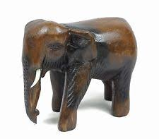 wooden elephant collectable ornaments figurines ebay