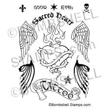sacred heart tattoo angel devil tattoos