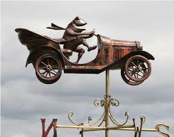 Design For Antique Weathervanes Ideas Copper Mr Toad S Car Weathervane Antique Weathervanes