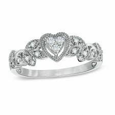 white gold promise rings cherished promise collection 1 8 ct t w diamond vintage style