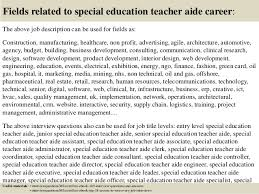 Special Education Teacher Job Description Resume by Top 10 Special Education Teacher Aide Interview Questions And Answers