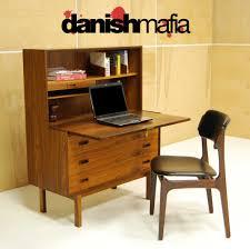 credenza computer desk mid century danish modern rosewood secretary desk dresser credenza