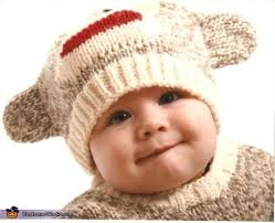 sock monkey costume for a baby