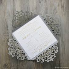 wedding invitations prices silver laser cut wedding invitations price comparison buy
