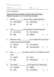 esl kids worksheets past continuous tense worksheet