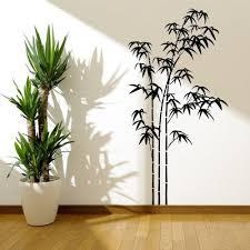 bamboo tree grass jungle wall sticker decal stencil vinyl