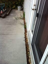 How Thick For Concrete Patio Concrete How Do I Seal A Large Gap Between Slabs To Avoid Freeze