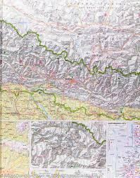 Kathmandu Nepal Map by Nepal Road Map Nelles Map U2013 Mapscompany