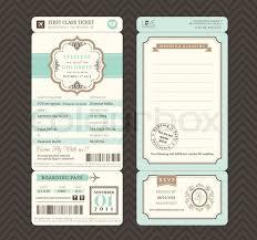 boarding pass wedding invitations vintage style boarding pass ticket wedding invitation template