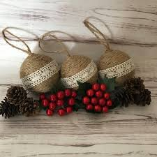 rustic christmas ornaments twine christmas ornaments christmas