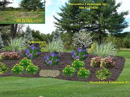 Backyard Slope Landscaping Ideas Front Yard Landscape Designs In Ma Decorative Landscapes Inc