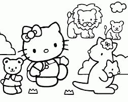 coloriage hello kitty hello kitty kangourous