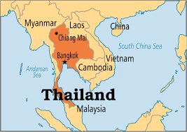map of thailand thailand operation world