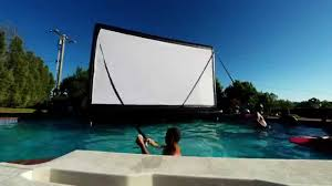 Backyard Movie Theatre by Floating Movie Theater Outdoor Movie Night Floating Inflatable