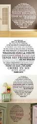 Home Decor Vinyl Wall Art by Stickers French Citation House Rules Vinyl Wall Sticker Decal