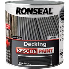 ronseal decking rescue paint 2 5l charcoal toolstation