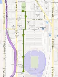 Seattle Link Map by March To The Match Seattle Sounders Fc