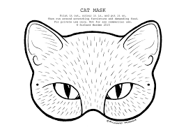 drawn masks cat pencil color drawn masks cat
