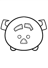 sulley coloring page 27 coloring pages of tsum tsum on kids n fun co uk on kids n fun